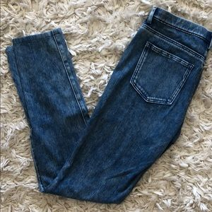 Uniqlo Acid Washed Denim Leggings Pants